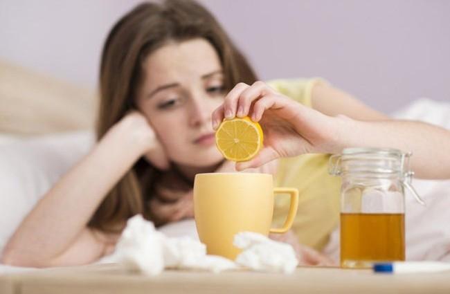 Девушка лечит простуду за один день