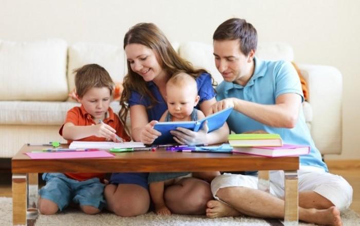 дружная семья дети